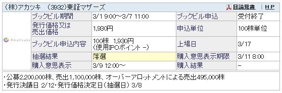 アカツキ(SBI証券)
