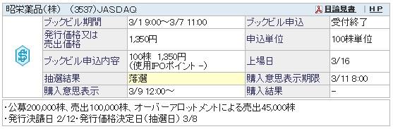 昭栄薬品(SBI証券)