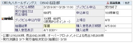 丸八ホールディングス(SBI証券)