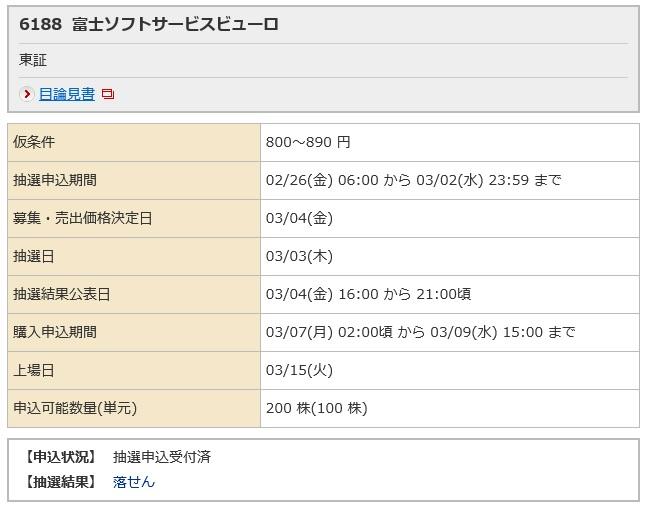 富士ソフトサービスビューロ(野村証券)
