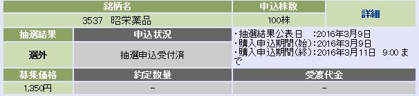 昭栄薬品(大和証券)