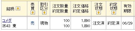 コメダホールディングス(マネックス証券)