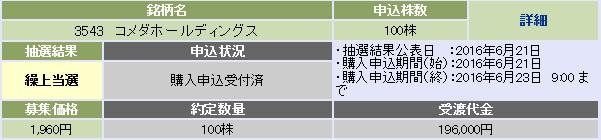 コメダホールディングス(大和証券)