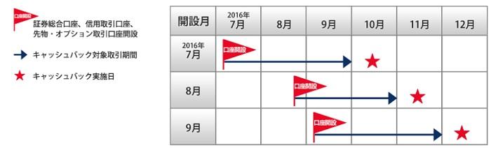 岩井コスモ証券のキャンペーン期間