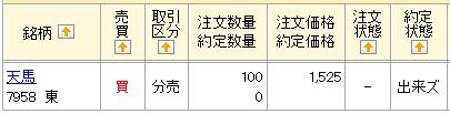 天馬(マネックス証券)