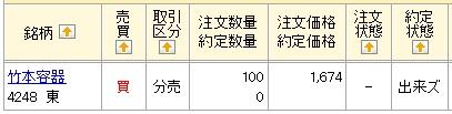 竹本容器(マネックス証券)