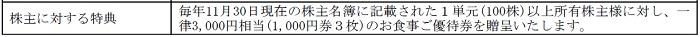 串カツ田中の株主優待