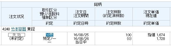 竹本容器(丸三証券)