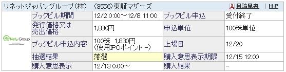 リネットジャパングループ(SBI証券)