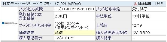 日本モーゲージサービス(SBI証券)