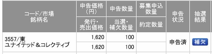 ユナイテッド&コレクティブ(SMBC日興証券)