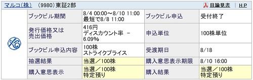 マルコ(SBI証券)