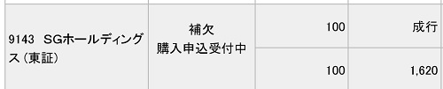SGホールディングス(みずほ証券)