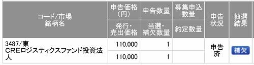 CREロジスティクスファンド投資法人(SMBC日興証券)
