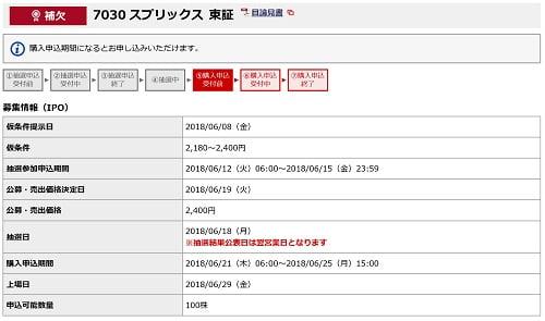 スプリックス(野村證券)