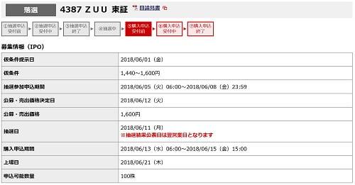 ZUU(野村證券)