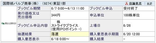 国際紙パルプ商事(SBI証券)