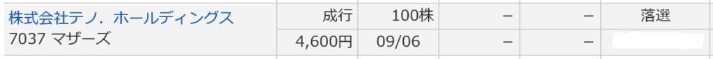 テノ・ホールディングス(マネックス証券)