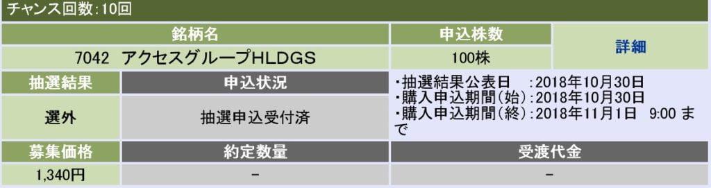 アクセスグループ・ホールディングス(大和証券)