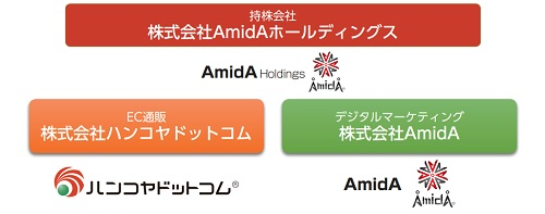 AmidAホールディングスの事業図