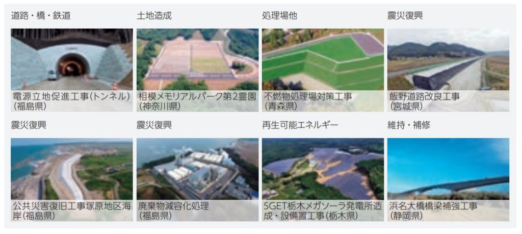 日本国土開発の土木事業