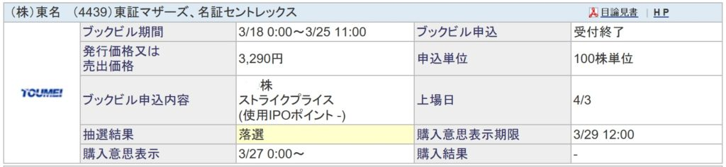 東名(SBI証券)