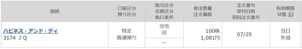 ハピネス・アンド・ディ(マネックス証券)