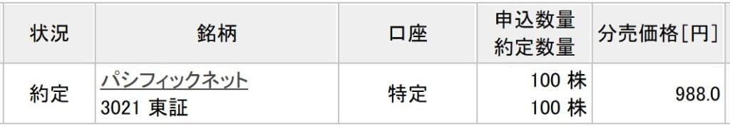 パシフィックネット(楽天証券)