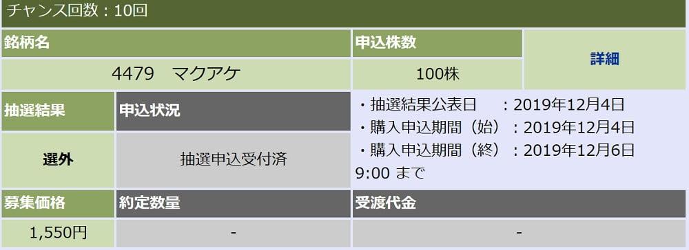 マクアケ(大和証券)