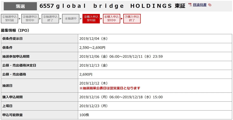 ホールディングス グローバル ブリッジ