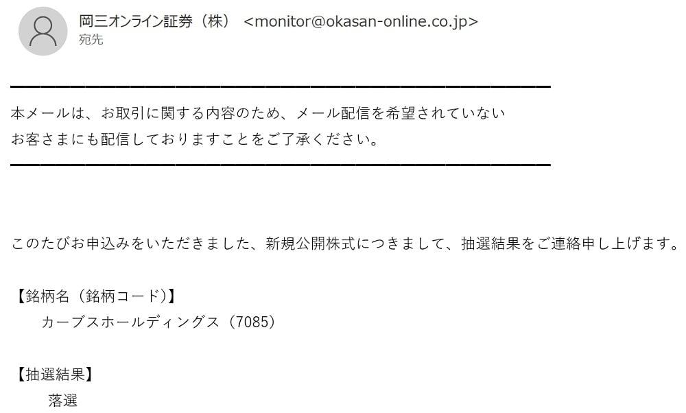 カーブスホールディングス(岡三オンライン証券)