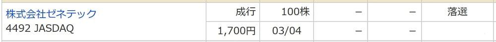 ゼネテック(マネックス証券)