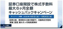 岩井コスモ証券のキャッシュバックキャンペーン