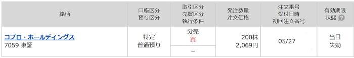 コプロ・ホールディングス(マネックス証券)
