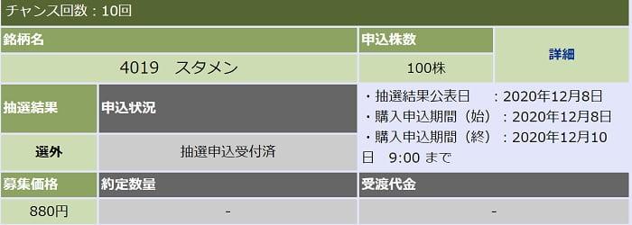 スタメン(大和証券)