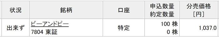 ビーアンドピー(楽天証券)