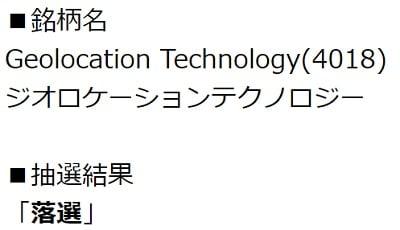 Geolocation Technology(エイチ・エス証券)