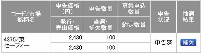 セーフィー(SMBC日興証券)